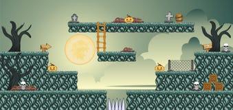 2D gioco 53 della piattaforma di Tileset illustrazione di stock