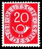 D?gitos com Posthorn, serie, cerca de 1951 fotografia de stock