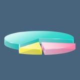 3D glascirkeldiagram stock illustratie