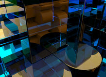 3D glass abstract background Stock Image