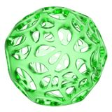 3d glass  abstract sphere Stock Images