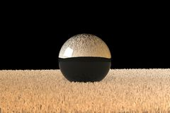 3d glass ball on carpet Stock Images