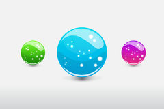3D sphere with glowing dots. 3D glass colorful sphere with glowing dots Royalty Free Stock Photos