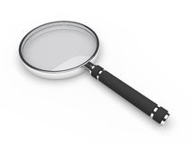 D glass magnifying lens Stock Photos