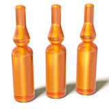 3d Glass Medical Ampoules Bottles Royalty Free Stock Images