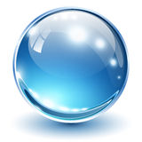 3D glass sphere Stock Photo