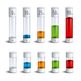 3d glass tubes percent infographic Royalty Free Stock Images