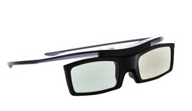 3d glasses, active, isolated over white Royalty Free Stock Image