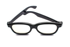 3d glasses. Active, over white background Stock Image