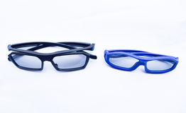 3D glasses for adult and baby isolated Royalty Free Stock Photo