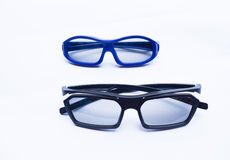 3D glasses for adult and baby isolated Stock Photo