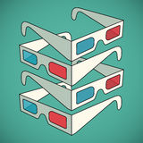 3d glasses. Anaglyph vector illustration eps10 Royalty Free Stock Photo