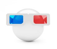 3d glasses ball Royalty Free Stock Images