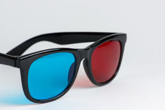 3D-glasses. With blue and red glass Royalty Free Stock Photos