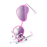 Pink glasses Royalty Free Stock Image