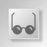 3D Glasses Button Icon Concept Royalty Free Stock Image