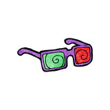 3d glasses cartoon Stock Photos