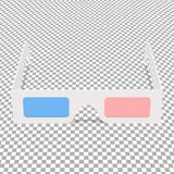 3d glasses on chequered background. 3d glasses on a chequered background Royalty Free Stock Images