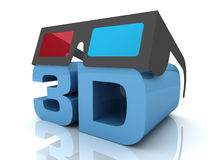 3d glasses concept  3d illustration Royalty Free Stock Photography