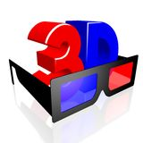 3D glasses concept Stock Photo