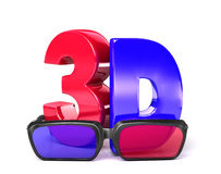 3D Glasses&3D Fotografia Stock