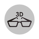 3d glasses design. 3d glasses icon. Cinema movie video film and media theme.  design. Vector illustration Royalty Free Stock Image