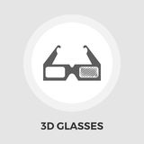 3D Glasses Flat Icon Stock Photography