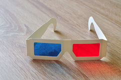 3d glasses glass Stock Photography