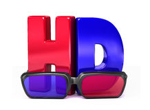 3D Glasses&HD Fotografia de Stock Royalty Free
