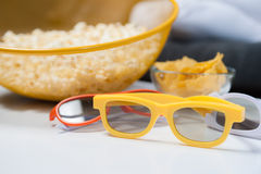 3d glasses for home cinema. stock images