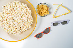 3d glasses for home cinema. Royalty Free Stock Photo