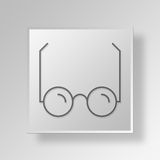 3D Glasses icon Business Concept Royalty Free Stock Image