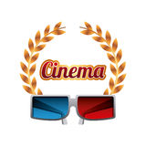 3d glasses icon Stock Photography