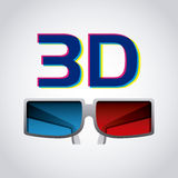 3d glasses icon Royalty Free Stock Image