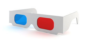 3d glasses. 3d illustration on white background Stock Photo