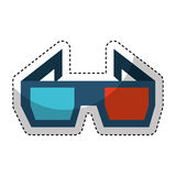 3d glasses isolated icon Royalty Free Stock Photography