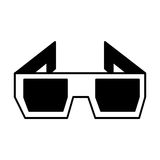3d glasses isolated icon Stock Photo