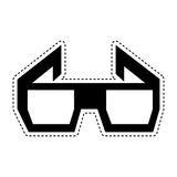 3d glasses isolated icon Stock Image