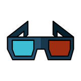 3d glasses isolated icon Stock Images