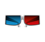 3d glasses isolated icon Stock Photography
