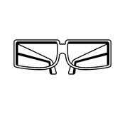 3d glasses isolated icon Royalty Free Stock Images