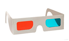3d glasses. Isolated on the white background royalty free stock image