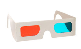 3d glasses isolated. On the white background stock photography