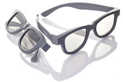 3D-glasses. 3D glasses for movie theater or home theater Stock Photo