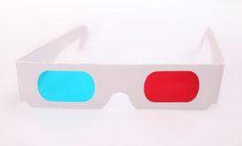3D glasses. Pair of 3D glasses Isolated on white background stock image