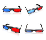 3d glasses range four set Stock Image