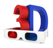 3D glasses with symbol Royalty Free Stock Photos