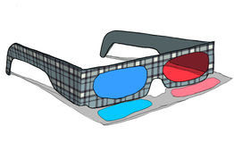3d glasses vintage Royalty Free Stock Photo