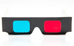 3D glasses. On white background Royalty Free Stock Photos