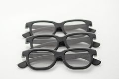 3D glasses on a white background. Modern cinema vision. Royalty Free Stock Photos